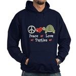 Peace Love Turtles Hoodie (dark)