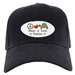 Peace Love Turtles Black Cap