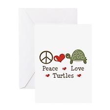 Peace Love Turtles Greeting Card
