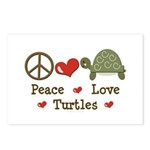 Peace Love Turtles Postcards (Package of 8)