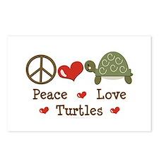 Peace Love Turtles Postcards (Package of 8)
