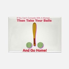 Take Your Balls & Go Home! Rectangle Magnet
