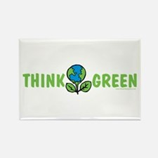 Think Green Rectangle Magnet