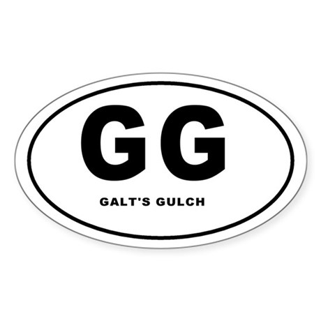 Galt's Gulch Oval Sticker