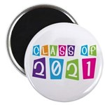 Colorful Class Of 2021 Magnet