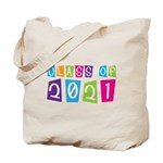 Colorful Class Of 2021 Tote Bag