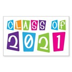 Colorful Class Of 2021 Rectangle Sticker 50 pk)