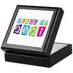 Colorful Class Of 2021 Keepsake Box