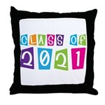 Colorful Class Of 2021 Throw Pillow
