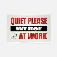 Writer Work Rectangle Magnet
