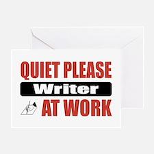Writer Work Greeting Card