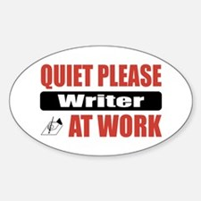 Writer Work Oval Decal