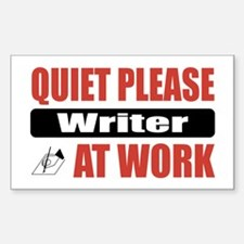 Writer Work Rectangle Decal