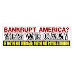 Bankrupt America Bumper Sticker (10 pk)