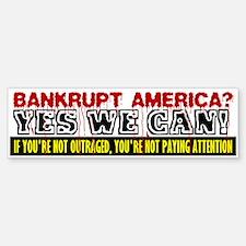 Bankrupt America Bumper Bumper Bumper Sticker