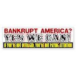 Bankrupt America Bumper Sticker