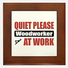 Woodworker Work Framed Tile