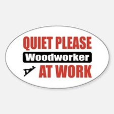 Woodworker Work Oval Decal