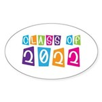 Colorful Class Of 2022 Oval Sticker