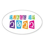 Colorful Class Of 2022 Oval Sticker (10 pk)