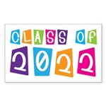 Colorful Class Of 2022 Rectangle Sticker 10 pk)