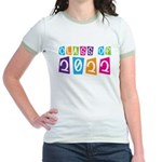 Colorful Class Of 2022 Jr. Ringer T-Shirt