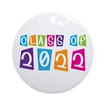 Colorful Class Of 2022 Ornament (Round)