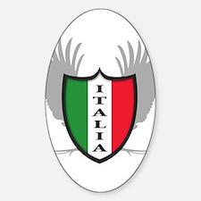 italian pride Oval Decal