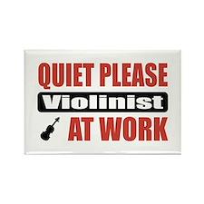 Violinist Work Rectangle Magnet