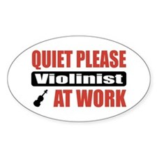 Violinist Work Oval Decal