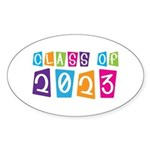 Whimsical Class Of 2023 Oval Sticker (10 pk)