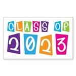 Whimsical Class Of 2023 Rectangle Sticker 10 pk)
