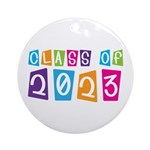Whimsical Class Of 2023 Ornament (Round)