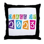 Whimsical Class Of 2023 Throw Pillow