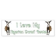 Nigerian Dwarf Goat Bumper Bumper Sticker