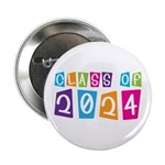 """Colorful Class Of 2024 2.25"""" Button"""