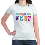 Colorful Class Of 2024 Jr. Ringer T-Shirt