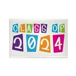 Colorful Class Of 2024 Rectangle Magnet