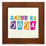 Colorful Class Of 2024 Framed Tile