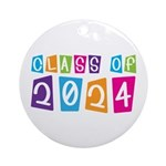 Colorful Class Of 2024 Ornament (Round)