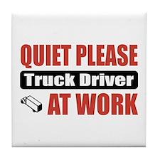 Truck Driver Work Tile Coaster
