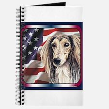 Saluki Patriotic USA Flag Journal