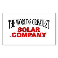 """The World's Greatest Solar Company"" Decal"