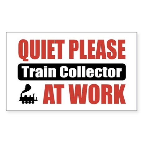 Train Collector Work Rectangle Sticker