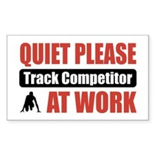 Track Competitor Work Rectangle Sticker 10 pk)