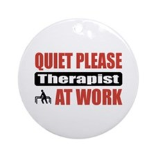 Therapist Work Ornament (Round)
