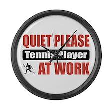 Tennis Player Work Large Wall Clock