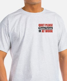 Phone Person Work T-Shirt