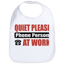 Phone Person Work Bib