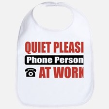 Phone Person Work Bib